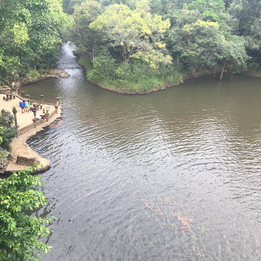 View from the walkway bridge