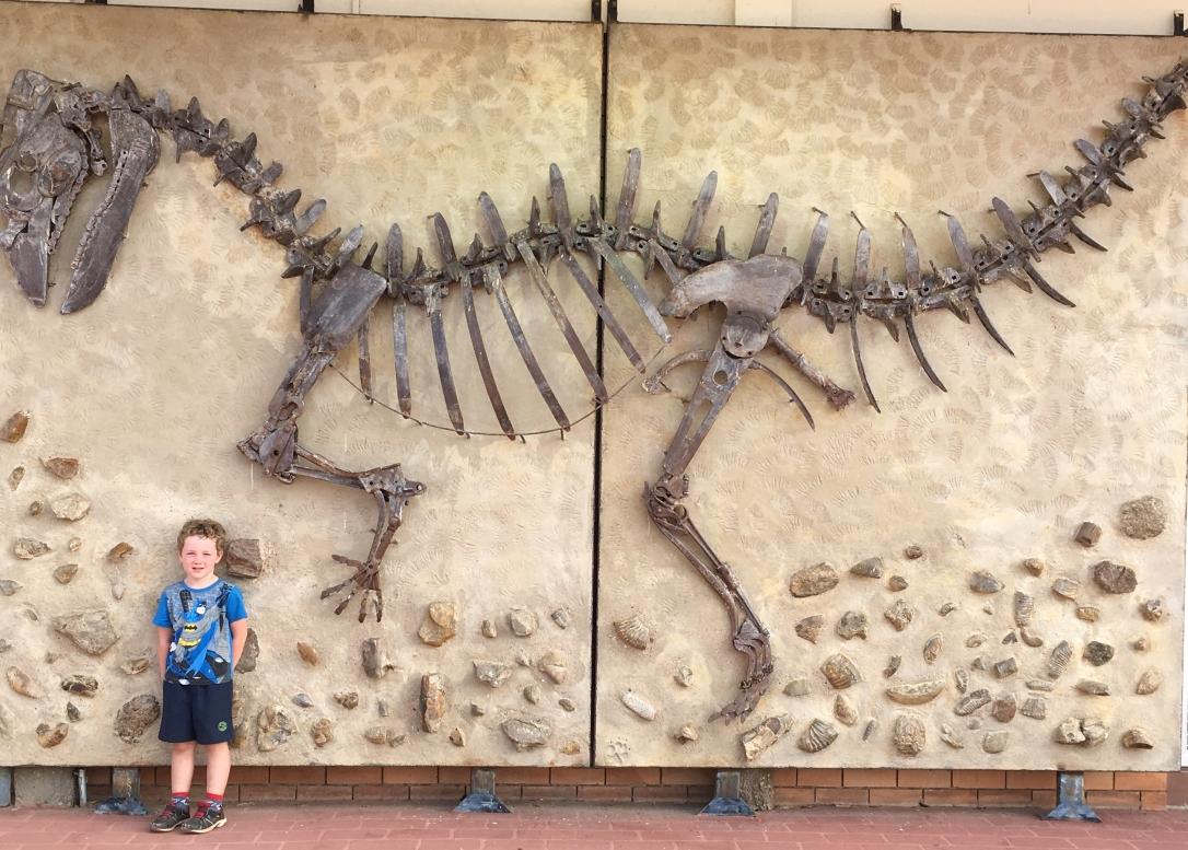 'Darby' the Dinosaur - large wall sculpture depicting the Muttuburrasaurus