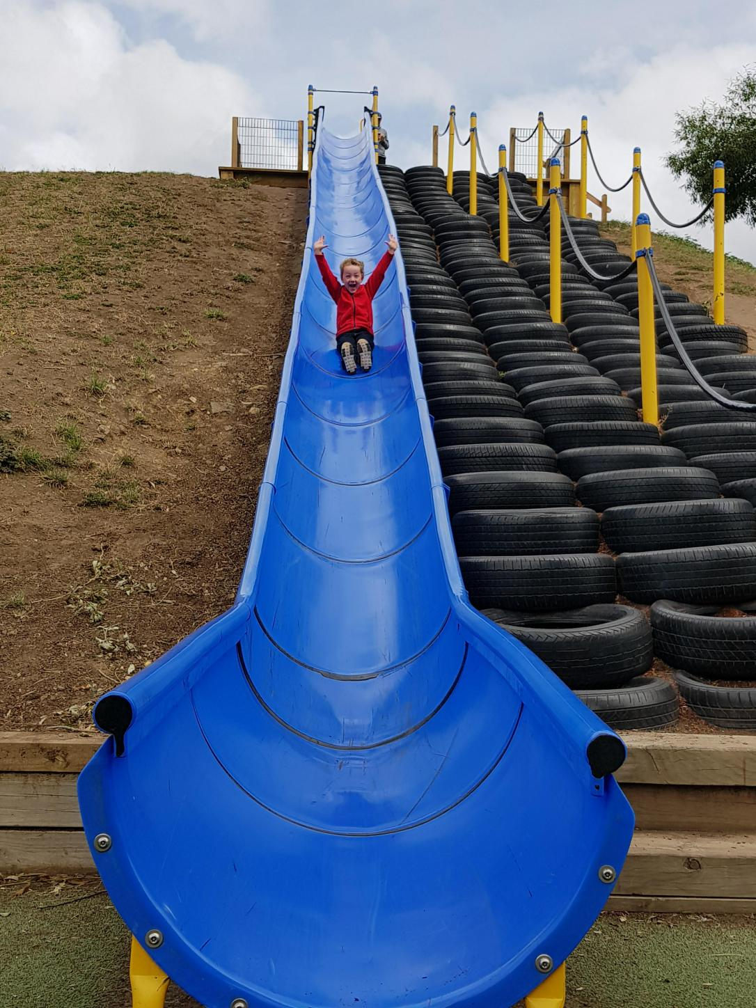 How's this for a slide!!!!!