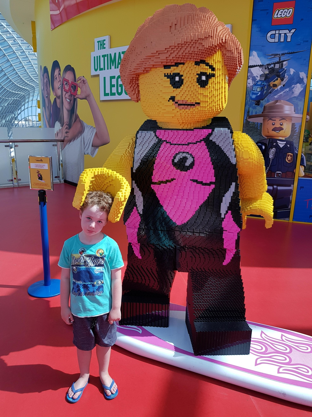 I'm not smiling because I didn't get anything from the Lego shop!